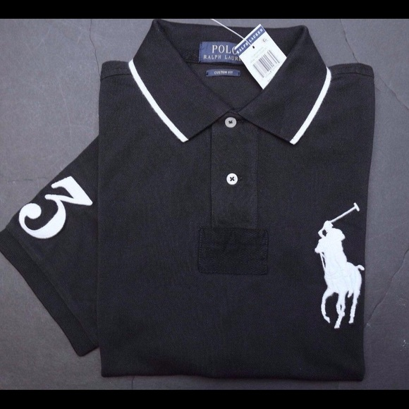 Men's polo Ralph Lauren big pony polo black